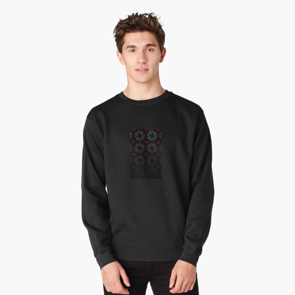 Black floral pattern Pullover Sweatshirt