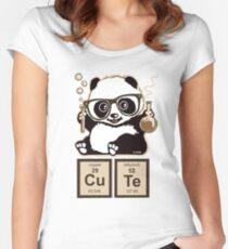 Chemie Panda entdeckt süß Tailliertes Rundhals-Shirt