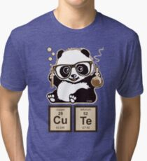 Chemistry panda discovered cute Tri-blend T-Shirt