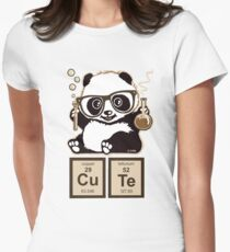 Chemistry panda discovered cute Women's Fitted T-Shirt