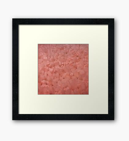 Pink pieces Framed Print