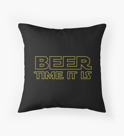 Beer Time It Is Throw Pillow