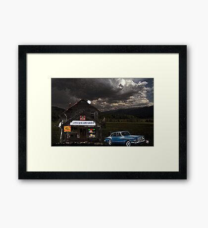 Cove Bar And Grill Framed Print