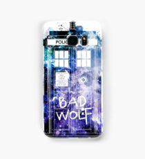 Doctor Who Tardis Bad Wolf Watercolor Samsung Galaxy Case/Skin
