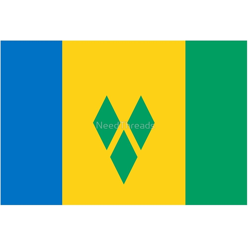 St. Vincent And The Grenadines Flag by NeedThreads