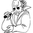 Hirschfeld Horrors - Jason by Zack Morrissette