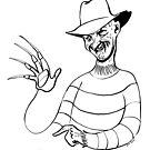 Hirschfeld Horrors - Freddy by Zack Morrissette