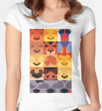 Minimalist Lion King Icons Women's Fitted Scoop T-Shirt