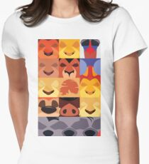 Minimalist Lion King Icons Women's Fitted T-Shirt