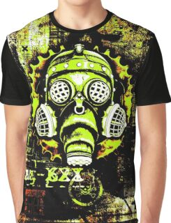 Steampunk / Cyberpunk Gas Mask Posterized Version Graphic T-Shirt