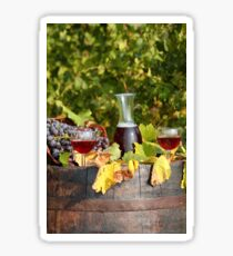 vineyard red wine  Sticker