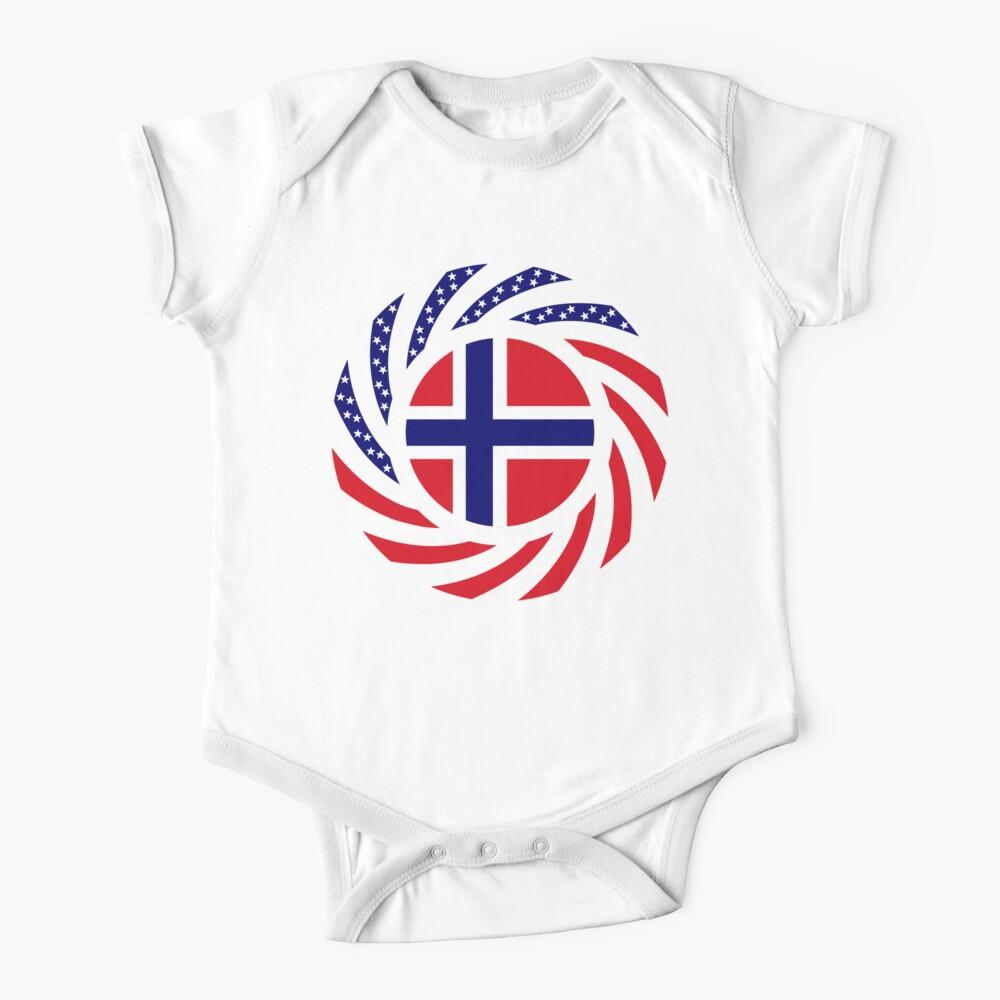 Norwegian American Multinational Patriot Flag Series 1.0 Baby One-Piece