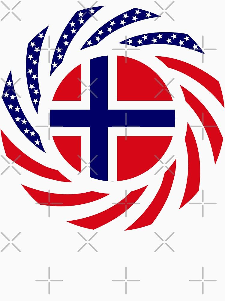 Norwegian American Multinational Patriot Flag Series 1.0 by carbonfibreme