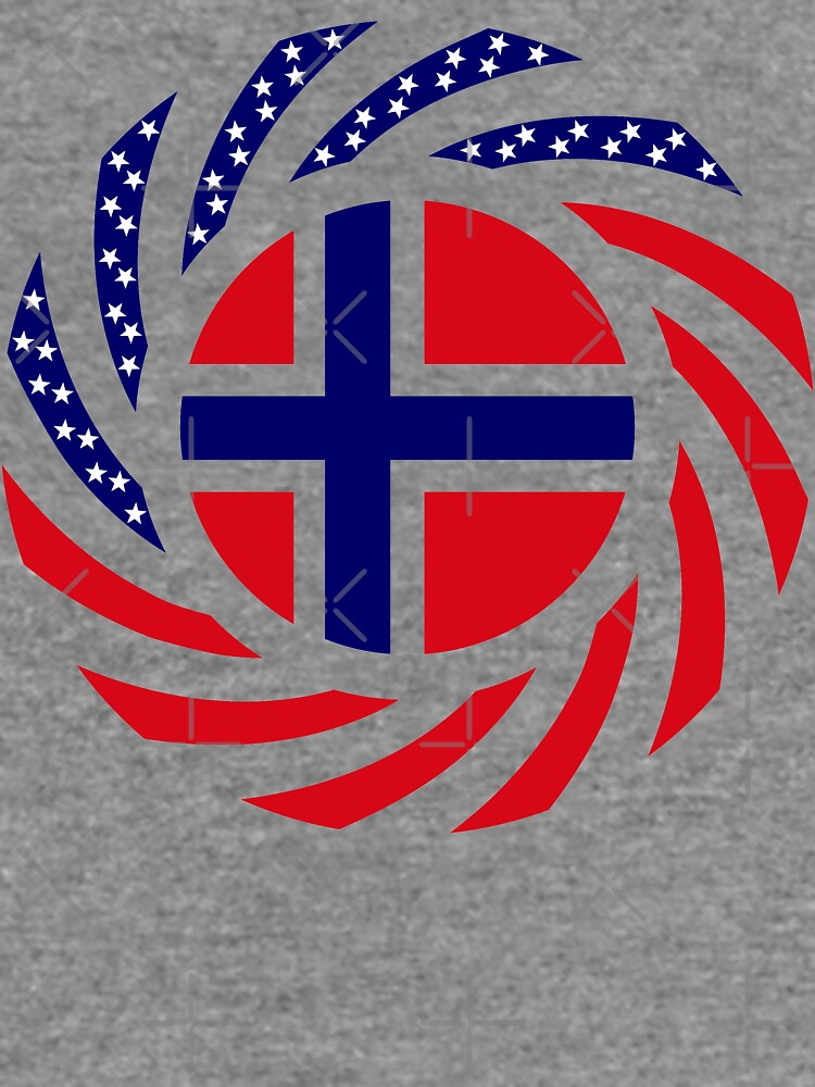 Norwegian American Multinational Patriot Flag Series 1.0 by carbonfibreme