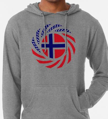 Norwegian American Multinational Patriot Flag Series 1.0 Lightweight Hoodie