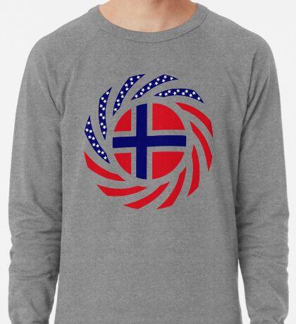 Norwegian American Multinational Patriot Flag Series 1.0 Lightweight Sweatshirt