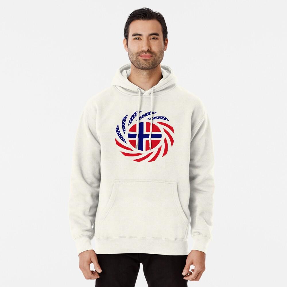 Norwegian American Multinational Patriot Flag Series 1.0 Pullover Hoodie