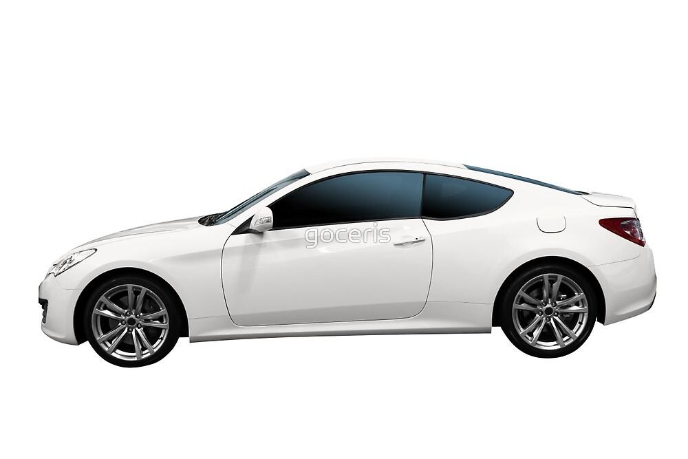 fast white car by goceris