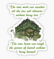 The True Mind..... - Lion Turtle Quote Sticker