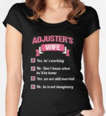 ADJUSTER'S WIFE Women's Fitted Scoop T-Shirt