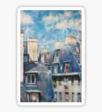Dächer von Montmartre Sticker