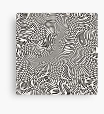 exotic lines on grey Canvas Print
