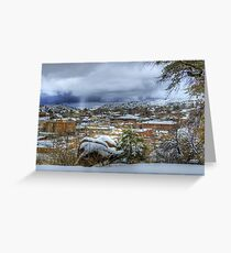 Snowy View In Prescott Arizona Greeting Card