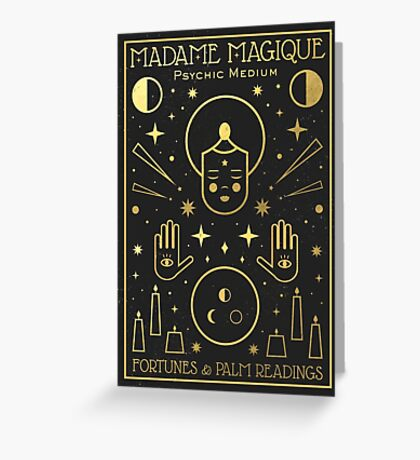 Madame Magique  Greeting Card