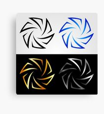 Aperture in different colors  Canvas Print