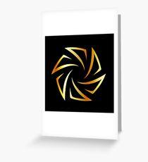 Golden aperture  Greeting Card