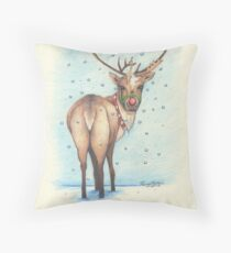 Rudolph Throw Pillow