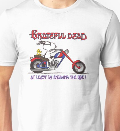 Grateful Dead Snoopy Biker Enjoying the Ride T-shirt