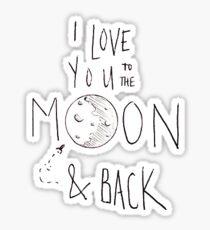 Ich liebe dich bis zum Mond Sticker