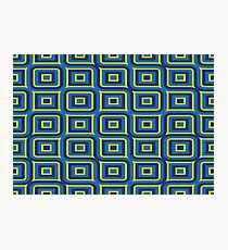 Blue yellow rectangles pattern Photographic Print
