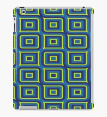 Blue yellow rectangles pattern iPad Case/Skin