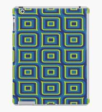 Blue yellow rectangles pattern iPad Case/Skin