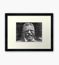 Theodore 'Teddy' Roosevelt Laughing Framed Print
