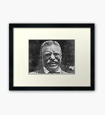 Theodore 'Teddy' Roosevelt Lachend Gerahmtes Wandbild