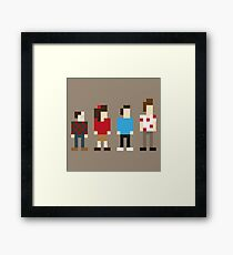 Seinfeld sitcom characters in Pixelstyle Framed Print