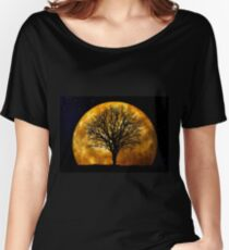 Tree and Moon  Women's Relaxed Fit T-Shirt