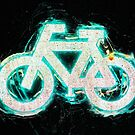 Glowing neon bicycle sign.  by PhotoStock-Isra