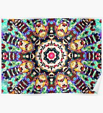 Colorful Concentric Abstract Poster