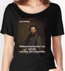 Leo Tolstoy Quote 1 Women's Relaxed Fit T-Shirt