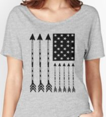 USA Arrow Flag Women's Relaxed Fit T-Shirt