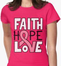 Faith Hope Love - Breast Cancer Awareness T-Shirt
