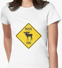 Moose Xing Women's Fitted T-Shirt