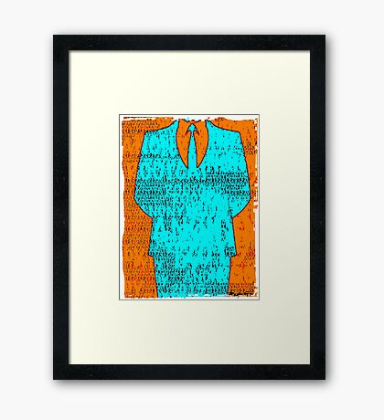 Anonymous too Framed Print
