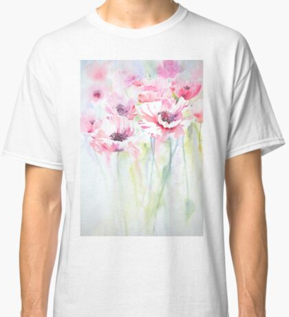Pink Poppy Meadow Classic T-Shirt
