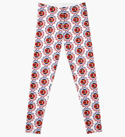 Swazi American Multinational Patriot Flag Series Leggings