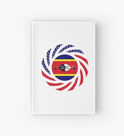 Swazi American Multinational Patriot Flag Series Hardcover Journal